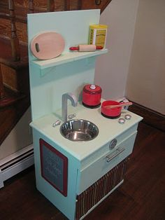 play kitchen from a nightstand