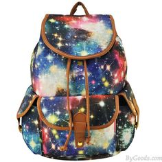 Fresh Fantastic Galaxy Shining Star Drawstring Hasp Travel Backpack School Bag College Rucksack sold by needit. Shop more products from needit on Storenvy, the home of independent small businesses all over the world. Galaxy Backpack, Lace Backpack, Floral Backpack, Rucksack Backpack, Travel Backpack, Cute Backpacks, Girl Backpacks, School Backpacks, Canvas Backpacks