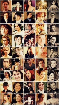 The casts of Pride and Prejudice adaptations over the years. Love it, but the BBC version will always be the very, very best.