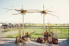 Sleepy Ridge Weddings & Events | Sunset Room Patio | Backdrop