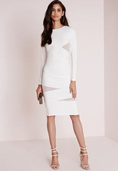 db72398032a0 Update your party dress collection with this seriously standout midi dress.  With luxe long sleeves