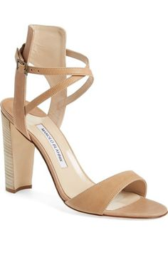 Manolo Blahnik 'Convu' Ankle Strap Sandal (Women) available at #Nordstrom