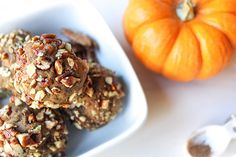 Pumpkin Protein Bites  Craving cookie dough, but not the macros that come with it? Here's a guilt-free treat with a fall twist - PUMPKIN protein bites! These little bites pack a pretty decent punch at 5g of protein per serving. This is such an easy guilt-free snack to keep
