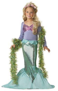 Little Ariel Child Mermaid Girl Dress Up Costume   eBay
