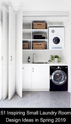 51 Inspiring Small Laundry Room Design Ideas in Spring 2019 {960463} #laundry #storage #laundrystorage Having a small house requires the owner to always have creative ideas to make the house neat and comfortable to live in. A comfortable house is of course seen from several sides, not only good and has the right interior design and good. But you will be comfortable if supported by good space management, and …