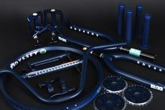 Available Now – Midnight Blue Kit Bmx Bike Parts, Midnight Blue Color, Bmx Bikes, Old School, Gears, Motorcycle, Kit, Motorcycle Design, Gear Train