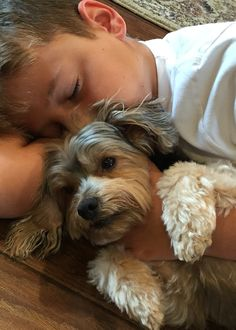 A boy and his dog❤️