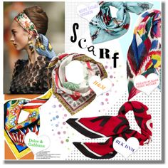 Summer trend: Silk Scarves by georginamaybrown on Polyvore featuring polyvore, fashion, style, H&M, Dolce&Gabbana, CENA and Nozomi Ishiguro