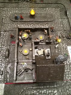 Savage Worlds Ripper campaign with DwarvenForge tiles Rpg Board Games, Savage Worlds, City Photo, Tiles, Campaign, Music Instruments, My Favorite Things, Room Tiles, Tile