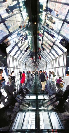 voyeuristic architecture | Observatory deck in Shanghai World Financial Center