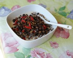 Cocoa-Goji Granola--not your usual breakfast cereal! Easy to make, #glutenfree, #vegan and refined #sugarfree