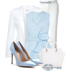 Baby Blue & White Combo