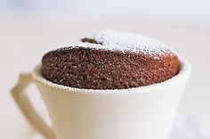 Chocolate souffle (serves two)