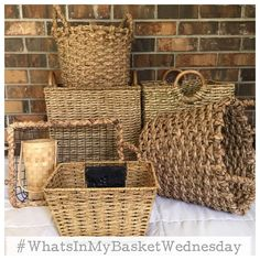 "Angela Betlewicz on Instagram: ""Baskets, Baskets and more Baskets! We all love decorating with #baskets! I came up with this new #hashtag for Wednesday's! #WhatsInMyBasketWednesday I want to see how YOU decorate using your baskets. I'll pick my FAVS and feature them on my account each week. I can't wait to see all of your inspiration ideas for decorating with baskets! I think this will be so much fun getting ideas from each other!"""