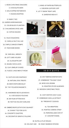 50 DIY Christmas Gifts. From A Subtle Revelry Blog.