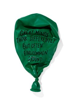 Great minds think differently but often find common ground. I love these prints of balloons with interesting sayings by inflateddeflated. Daily Motivational Quotes, Great Quotes, Quotes To Live By, Inspirational Quotes, Awesome Quotes, Words Quotes, Wise Words, Sayings, Foto Logo