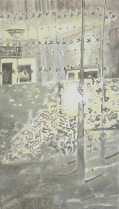 Luc Tuymans (Belgian, b. 1958), Green Light, 2016. Oil on canvas, 201.5 x 114.3 cm.