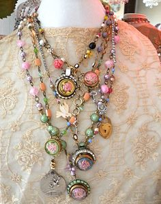 assemblage necklaces by Betty Watkins