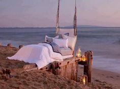 I can sleep here.