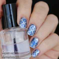 OPI - Shine for me y Bornpretty L007 stamping plate