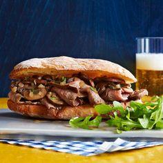 Sliced Steak & Mushroom Sandwiches - Rachael Ray Every Day