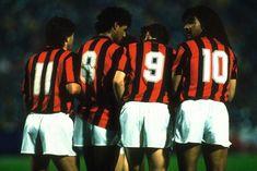 Stagione 1988-89. Ancelotti e i tre olandesi del Milan.