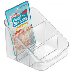 """Linus Packet Organizer - Clear Dimensions: 6""""L x 3.25""""D x 5.25""""H Material: Plastic Color: Clear Great for storing Spice Packets, Instant Hot Cocoa and Tea Packets Great for use in Kitchen, Pantry, Off"""