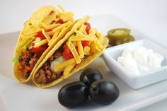 Taco Bar? Yes please! Easy Beef Tacos everyone will rush the table for!