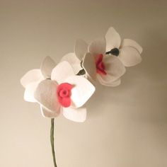 Large Wool Felt Orchid