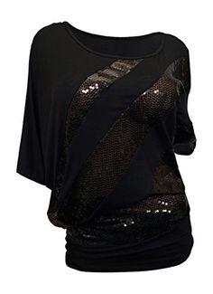 39aa2c7d178e3 eVogues Plus size Sequins Scoopneck Top Black - 1X eVogue... sarahss8490 ·  Amazon store colleer