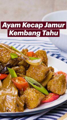 Tofu Recipes, Healthy Chicken Recipes, Asian Recipes, Vegetarian Recipes, Dinner Recipes, Cooking Recipes, Tastemade Recipes, Chicken And Dumplings, Daily Meals