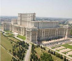 Biggest Parliament: Palace of the Parliament, Bucharest, Romania. SEEN IT! Wonderful Places, Beautiful Places, Palace Of The Parliament, Visit Romania, Little Paris, Big Building, Cities, Bucharest Romania, World's Biggest