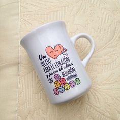 """Taza """"un tecito para el corazón y para el alma un bombón"""" #DíadelasMadres"""