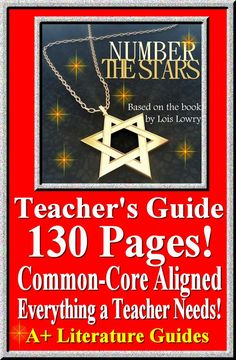 This is a 130 page Complete Literature Guide for the novel, Number the Stars by Lois Lowry. This guide has everything that you will need to teach and assess the novel. The Calendar explains the skills and activities for the day, and the weekly assessments are Common Core aligned and include all answer keys.