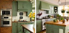 Image result for grass green kitchen