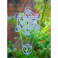 Metatron's Cube Dream Catcher Wall Hanging by HouseOfDreamers