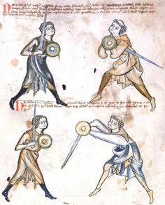 A page from a Medieval swordplay manual.  Why am I posting this?  Because there were systematic training systems - martial arts - in every culture... not just Asia.  Why aren't there any on your game world?