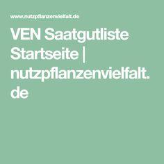 VEN Saatgutliste Startseite | nutzpflanzenvielfalt.de