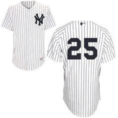 MLB NYヤンキース ユニフォーム#25マーク・テシェイラ Authentic Player ホワイト ホーム