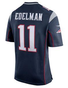 NFL Jersey's Mens New England Patriots Julian Edelman Nike Red Alternate Game Jersey