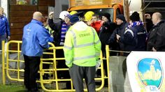 Linfield fans celebrate their goal v Shamrock Rovers in Tallaght Stadium, Dublin. March 2013, Dublin, Fans, Football, Soccer, American Football, Followers, Soccer Ball, Futbol