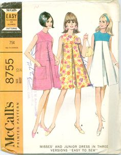 I had several dresses made from this pattern when I was in Jr. High!