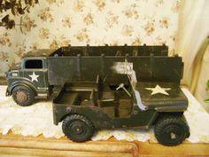 vintage 1950s MARX military army TROOP TRUCK by returntothepast, $48.00