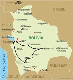 Map of bolivia la paz bolivia south america maps boliva map recommended gumiabroncs Gallery