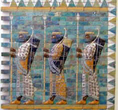 Ancient Babylonian men depicted on the Ishtar Gate  According to the ancient historian Herodotus, the Ancient Babylonians had no physicians.  Instead the sick were laid on cots in public squares. Those who passed were required by law to ask about the sick man's infirmity and offer advice if they knew anything about the illness.