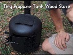 .   http://www.thegoodsurvivalist.com/how-to-turn-a-propane-tank-into-an-amazing-tiny-wood-stove/