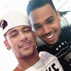 Idgaf bout Chris lol but Neymar looks so fucking cute here!