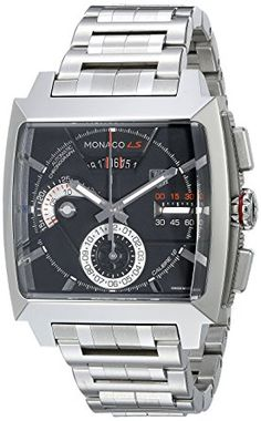 22396ed85b7 Ver mais. TAG Heuer Men s CAL2110.BA0781 Monaco Black Dial Watch Review  Men s Watches