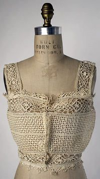 Corset Cover Date: 1915–19 Culture: French Medium: [no medium available] Dimensions: [no dimensions available]