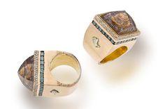 A rock crystal, colored diamond and diamond ring, Sevan Bicakci,
